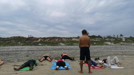 group beach nidra yoga